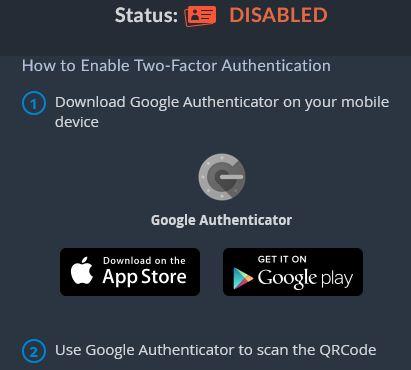 det är viktigt att man använder tvåfaktorsautentisering för att öka säkerheten på sitt bittrex-konto