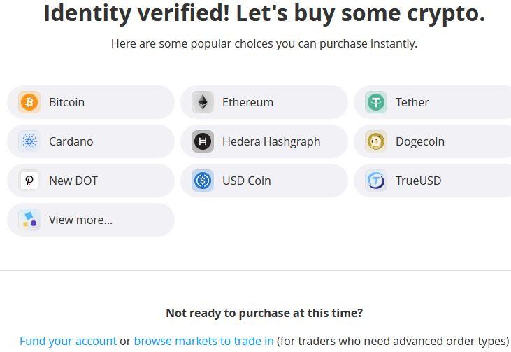 när verifieringen är klar kan man börja handla kryptovaluta på bittrex