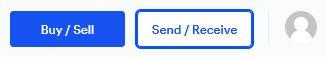 om man vill skicka sitt innehav till en annan wallet kan man trycka på send / receive enligt denna bild