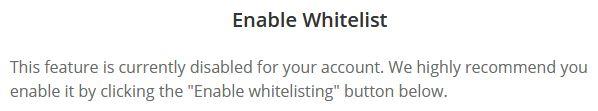 Hur man aktiverar whitelist hos Bitstamp