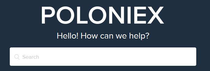 Poloniex kundtjänst