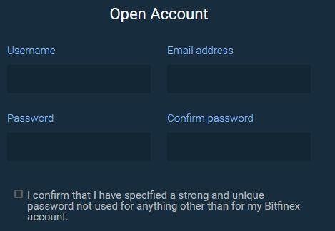 Hur man registrerar sig hos Bitfinex