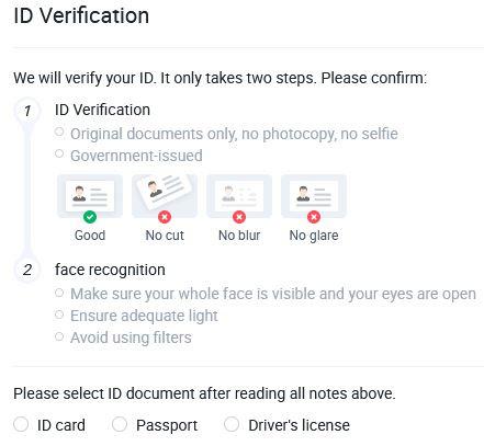 Verifiera dig med körkort och en selfie