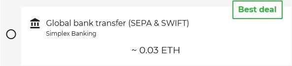 Banköverföring kan göras med SEPA eller Swift