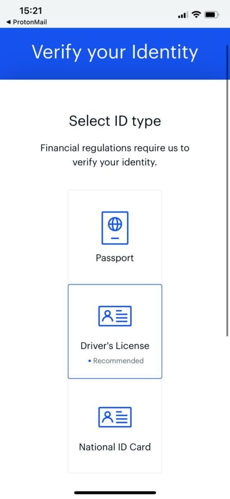 submit ID card for kyc verification on coinbase