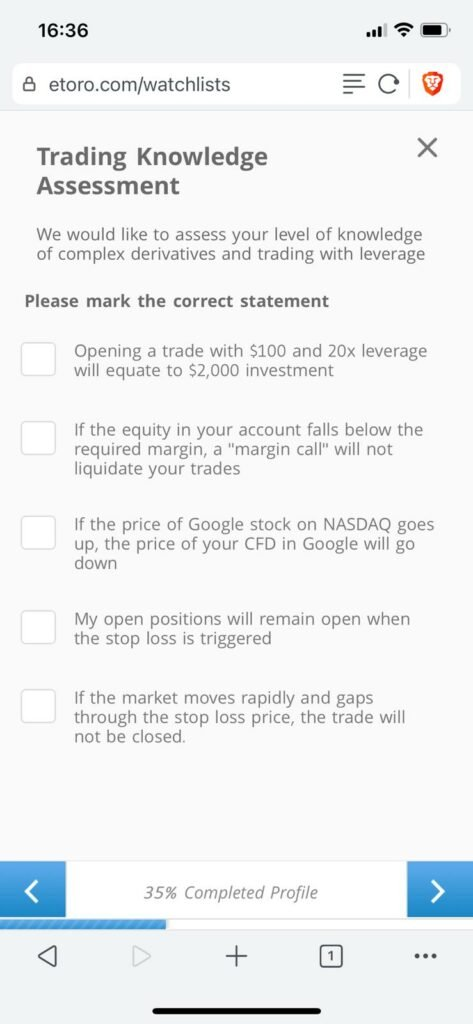 more questions regarding your trading knowledge