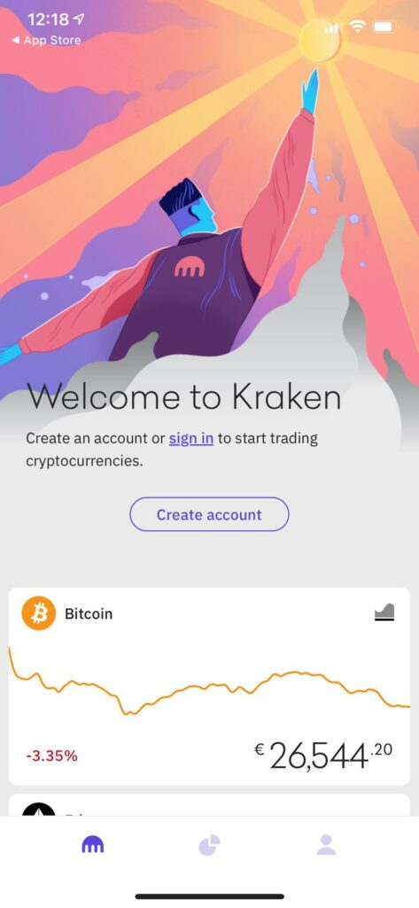 time to create an account on kraken
