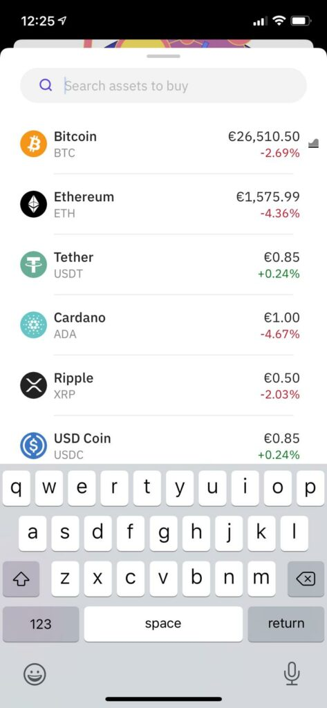 pick which assets you want to buy