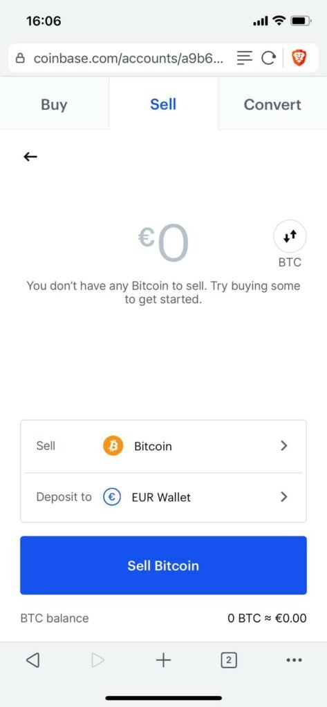 enter how much crypto you want to sell and then hit sell in order to sell your crypto on coinbase