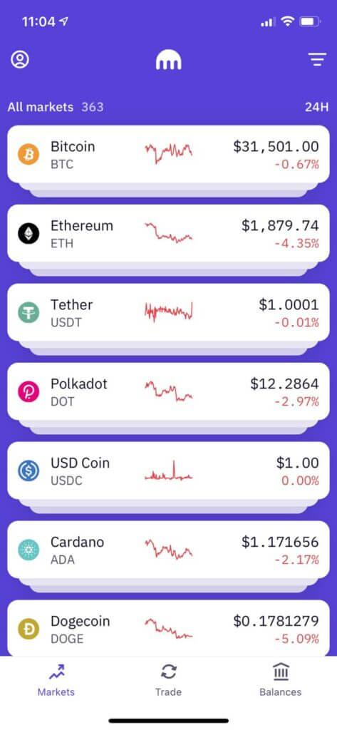 crypto assets on kraken pro