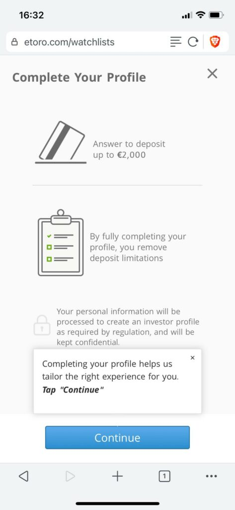 you should also verify your account, which improves limits on the etoro platform