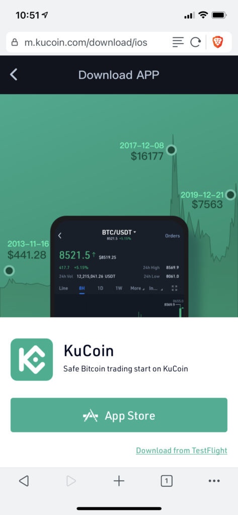 download the KuCoin app