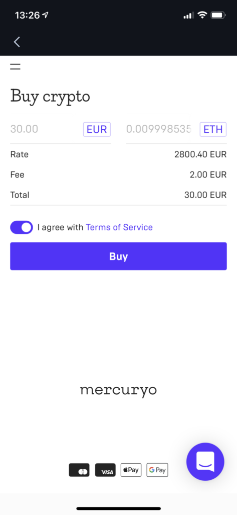 Buy crypto from 3rd party at KuCoin