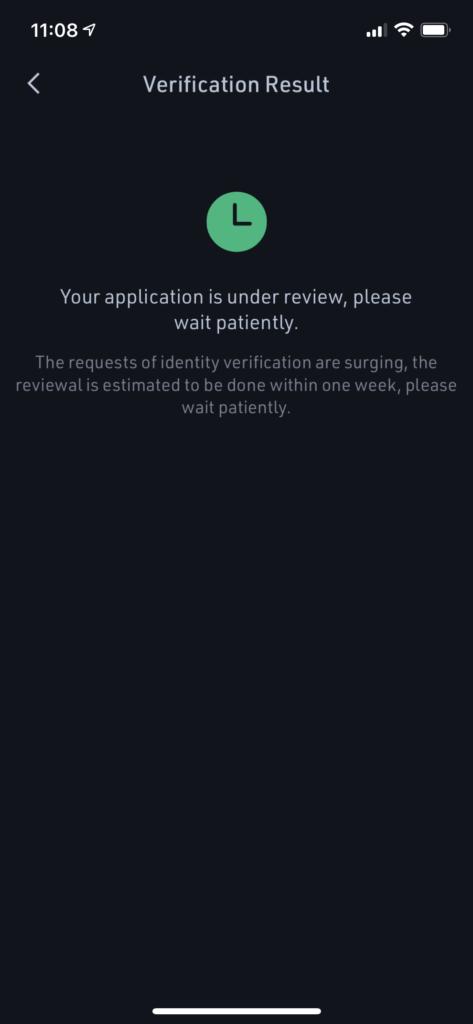 Pending verification at KuCoin