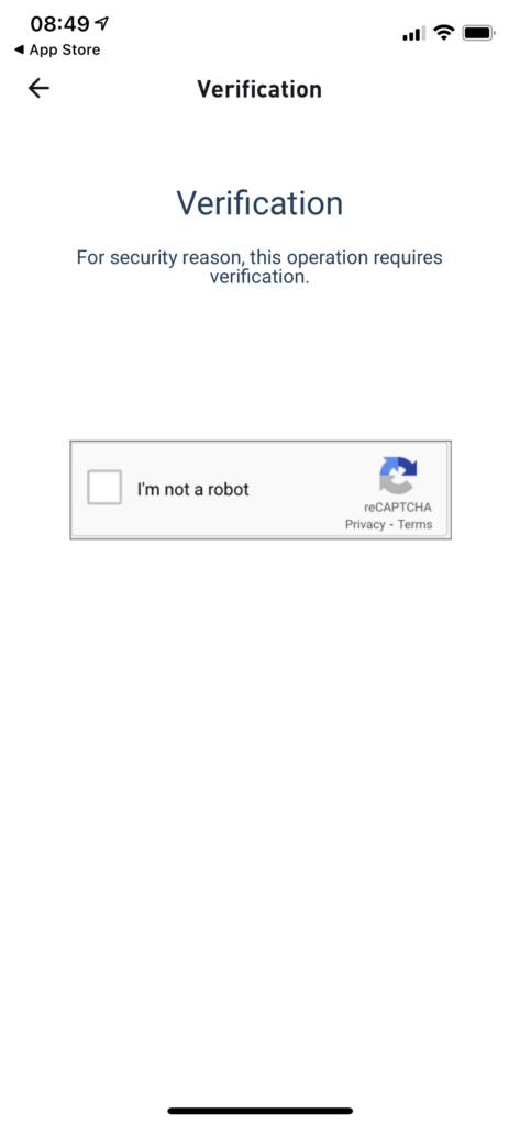 Verify human at Huobi