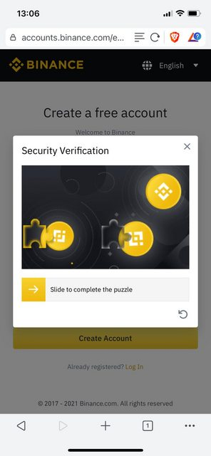 there is a captcha puzzle for your to solve when logging in to binance
