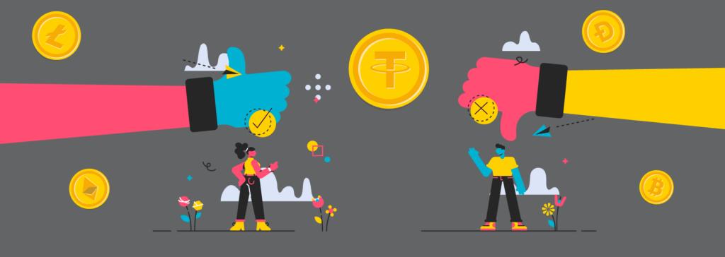 USDT vs. other cryptocurrencies
