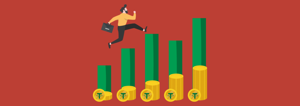 since tether is a stablecoin it's not made for investments and won't give profits