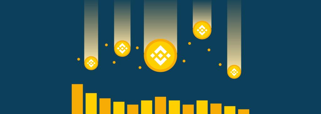 binance coin price chart with raining bnb